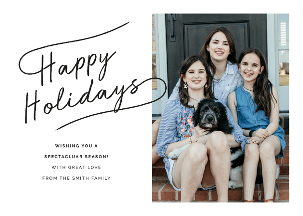Family Pictures Holiday Card Option 1