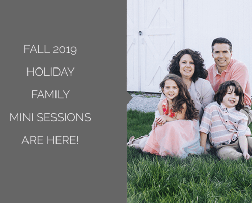 Fall 2019 Holiday Family Mini Session